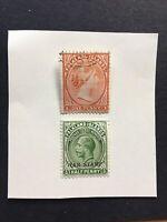 QV Falkland Islands 1d Stamp & KGV 1/2d War Tax Stamp QV Used KGV Mint Hinged