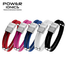 Power Ionics New Healthy Titanium Magnetic Double Style Sport Bracelet Wristband