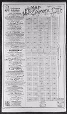 1889 Map Of Oklahoma City Indian Territory Sullins & Burns Southern Kansas R/RTA