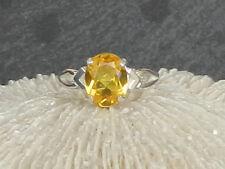 CITRIN Edelstein Ring facettiert und in 925er Silber gefaßt