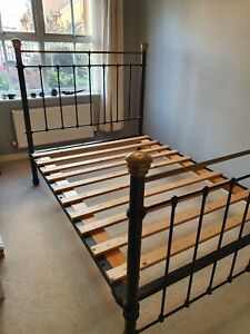 Antique Victorian Bed Frame Cast Iron Double