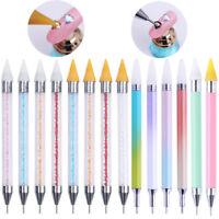 Dual-ended Nail Dotting Pen Rhinestones Studs Picker Wax Pencil  Tools
