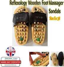 Masajeador saludable Reflexología Pie Madera Masaje Sandalias Zapatos Talla EU 38