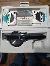 Vintage Dymo 1570 Tapewriter Chrome Finish 3 Embossing Wheels No Tape