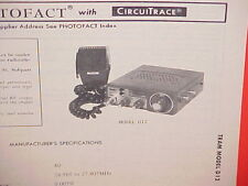 1978 Tram Cb Radio Service Shop Manual Model D12