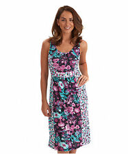 Viscose Scoop Neck Tunic Floral Dresses for Women