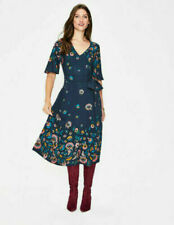 BODEN dress size 10 reg  emilie midi navy floral dress  BNWOT  W0235