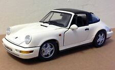 Anson off white 911 Porsche Targa removable top 1:18 missing side view mirror