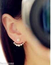 Pearl Simulated Fashion Earring Jacket Pear Earjacket FemNmas Fashion Earring