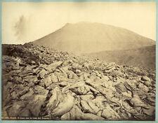 Photo Albuminé Napoli Volcan VesuvioItalia Italie Vers 1870