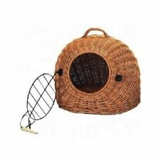 WICKER LARGE CAT DOG PET BED CARRIER BASKET