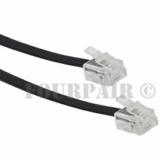 100ft Telephone Line Cord Cable Wire 6P4C RJ11 DSL Modem Fax Phone to Wall Black