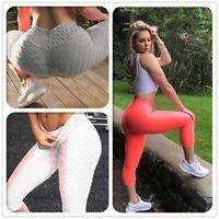 Women Scrunch Anti Cellulite Capri Yoga Pants Running High Waist Sport Leggings