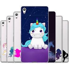 Dessana Unicorn TPU Silicone Protective Case Pouch Cover For sony