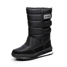 Botas De Nieve Impermeables Para Hombre Zapatos De Invierno Con Piel Suave Felpa
