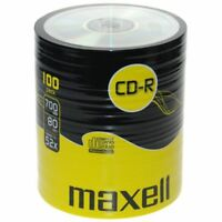 100 x Maxell Blank CD-R Disc (52x 80min 700MB) Audio/Data CD Recordable