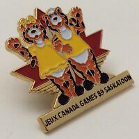 Olympic 1989 Jeux Du Canada Games Team Saskatoon Tigers Waving Pin F897