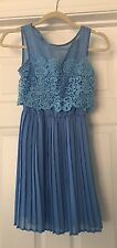 Asos Petite Skater Dress Lace Top Size 0 Beautiful  Pleated Skirt