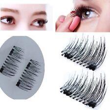 4Pcs 3D Dual Magnetic False Eyelashes No Glue Handmade Eye Lashes Extension New
