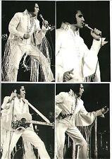 Elvis Presley 9 Photo Set: Long Fringe White Jumpsuit, LA Forum, 11/70 & FREE CD