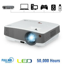 New listing 3600Lm Mini Led Projector Home Theater Movie Video Vga Hdmi Usb Av Support 1080P