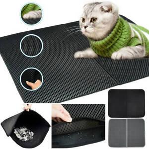 Cat Litter Mat Waterproof Eva Foam Trapper Foldable Pad Pet Rug Double-Layer'