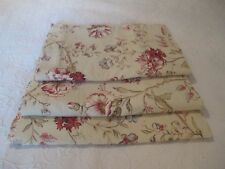 Country Curtains Tan Beige Floral Valance 100% Cotton USA Last One Available EUC