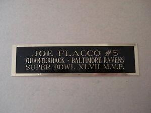 "Joe Flacco Football Card Baltimore Ravens Display Case Nameplate 1.25"" X 6"""