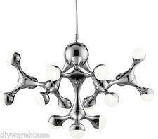 SEARCHLIGHT 87115-15CC SUPERB QUALITY LED 15 LIGHT MODERN CEILING PENDANT BNIB.