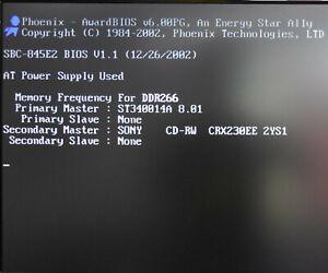 SBC-845E2 P4 BIOS V1.1 & 2.80GHz CPU & RAM