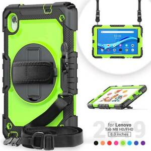Case Cover With Screen Protector Strap Stand For Lenovo Tab M8 TB-8505F TB-8705F