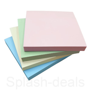 Pastel Sticky Notes Adhesive Paper Removeable Notes - 76 x 76 mm - Pack of 4