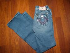 Girl's TRUE RELIGION BILLY SUPER T Burgundy Stitched Boot Cut Jeans....size 10