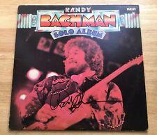 "RANDY BACHMAN SIGNED AUTOGRAPH ""SOLO ALBUM"" VINYL RECORD! *RARE* BTO GUESS WHO"