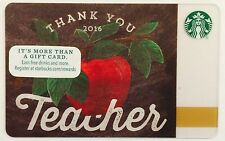 "NEW STARBUCKS "" TEACHER THANK YOU 2016 "" GIFT CARD"