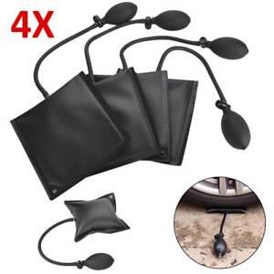 4x Black Air Pump Bag Wedge Cushion Automotive Car Inflatable Shims Hand Tools