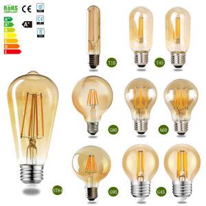 E27 LED Edison Filament Lampe Vintag Birne Glühbirne Retro Glühlampe Warmweiß 8x