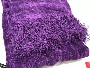 """New W Tags Bag Coldwater Creek Jewel Purple Tone Super Soft Lush 72"""" x 40"""""""