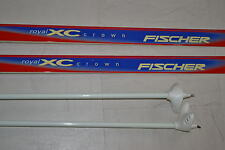 Fischer Royal XC Crown Langlauf 180 cm mit Stöcken Rottefella Bindung rot Tourin
