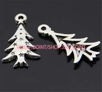 P241 20pcs Tibetan Silver Christmas tree Charm Beads Pendant Wholesale