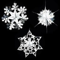 Christmas Foil Ceiling Decoration Hanging 40cm SET of 3 – Choose Colour