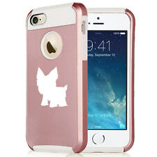 For iPhone SE 5 5s 6 6s 7 Plus Rose Gold Shockproof Hard Soft Case Cover Yorkie