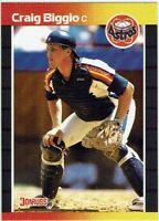 CRAIG BIGGIO Rookie RC 1989 Donruss VARIATION Two Asterisks - Back (#561) Astros