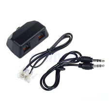 3.5mm Dictaphone Telephone Recording Adapter for Digital Voice Recorder Black H5
