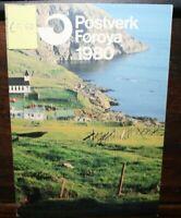 FRANCOBOLLI ISOLE FAROER 1980 ANNATA COMPLETA YEARBOOK NUOVI MNH** (0 33)
