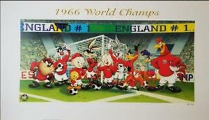 Looney Tunes 1966 World Champs England Soccer FIFA World Cup Artist Proof litho