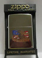 ZIPPO THE RIGHT TO KEEP AND BEAR ARMS LIGHTER ***NEW IN CASE***