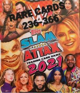 Slam Attax 2021 Trading Card Singles 236-336 (Topps, 2021) MULTI-BUY