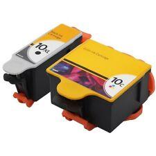 2PK High-Yield Ink For Kodak 10 XL 10C ESP 5, 7, 9, 7250 6150 5250 5210 Hero 9.1