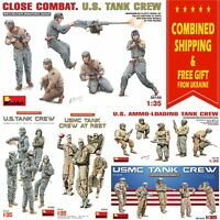 U.S. MILITARY TANK CREW MINIART 1/35 SCALE PLASTIC MODEL MILITARY MINIATURES